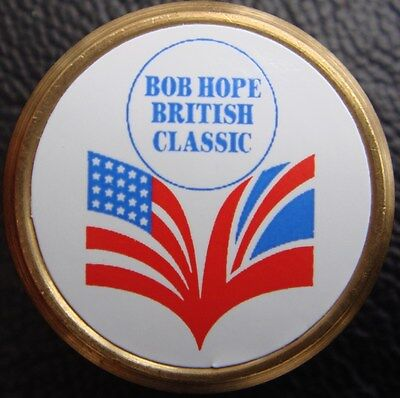 """The BOB HOPE British Classic"" - Rare Collectable Metal Golf Ball Marker"