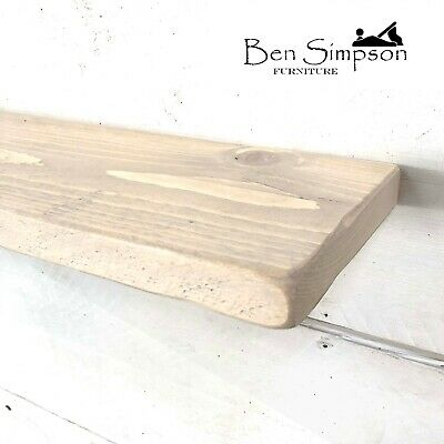 Shabby Chic Thin Wooden Rustic Floating Shelf Shelves Mantel Handmade