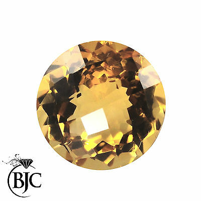 BJC® Loose Natural Yellow Citrine Round Cut Stones Multiple Sizes 6mm - 10mm
