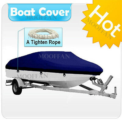 17 ft - 19 ft UV Protection Waterproof Boat Cover Fishing Ski Bass V-hull MBT2G