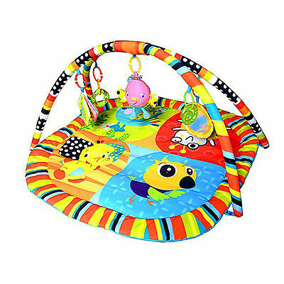 Happy Birds Play Mat Newborn Baby Toddler Activity Gym Tummy Time With Music