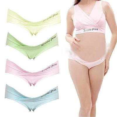 Pregnant Mother Women Maternity Anti Stomach Shorts Underpant Panties Low Briefs