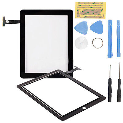 Touch Screen Glass Digitizer Replacement for  iPad 2G Black + Free Tools
