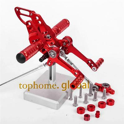 For Ducati Streetfighter 848 CNC adjusting Rearset Footpegs Rear set Red