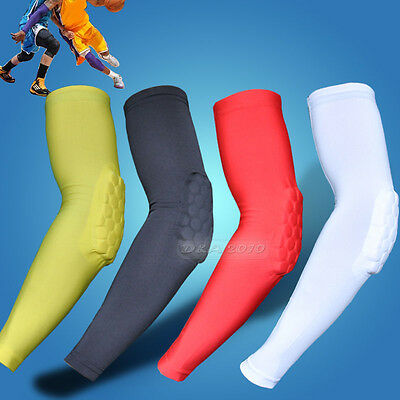 Honeycomb Pad Crashproof Cycling Basketball Shooting Arm Sleeve Elbow Support