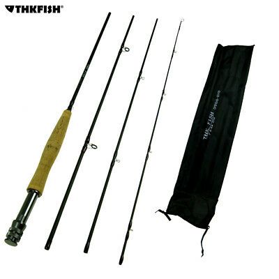 Top Quality! 9ft 2.7m THKFISH 4 Sections  #5~#6 Fly Fishing Rod Fishing Pole