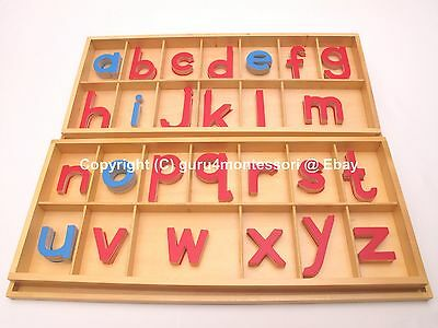 HOT Holiday Gift! Montessori Language - Large Movable Alphabet with Boxes