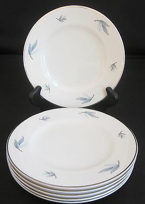 Syracuse Celeste 6 Bread & Butter Plates Made in USA