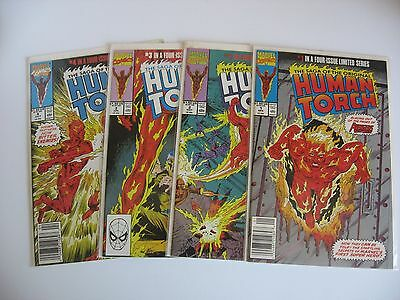 Human Torch Saga #1-2-3-4 complete VF to NM condition