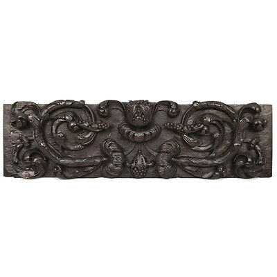 Antique Carved Oak Italian Renaissance Floral Architectural Salvaged Wall Panel