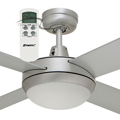 """Martec Lifestyle 52"""" Ceiling Fan With Dimmable Light & Lcd Remote Br/aluminium"""