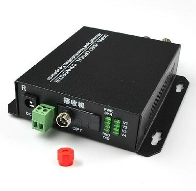 1Pair 2 Channel Digital Video Fiber optic transmission converter,2v1d,RS485