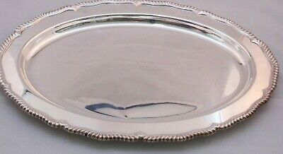 SILVER PLATED OVAL MEAT SERVING TRAY
