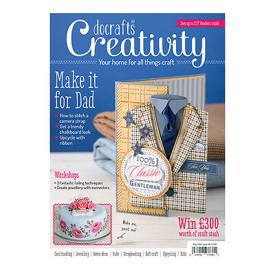 Docrafts creativity magazine 46 May 2014 +FREE wood letters & peg speech bubbles