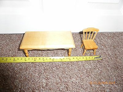 Miniature Table And 4 Chairs Pine