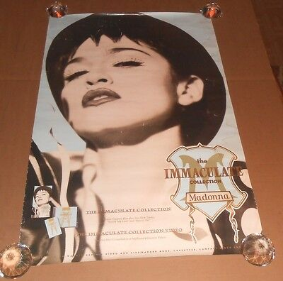 Madonna The Immaculate Collection Promo 1990 Original Poster 35x23