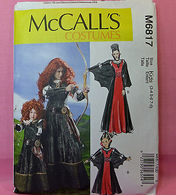 MCCALL\'S 3390 WITCH and Princess Costume Sewing PATTERN FOR kids ...