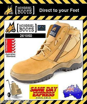 SIZE 14 AUS/UK Mongrel Safety Work Boot Low Cut Wheat Steel Toe (261050)