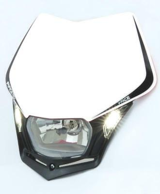 Racetech Mx Head Light V-Face LED White Off Road Motorbike Dirt Bike Headlight