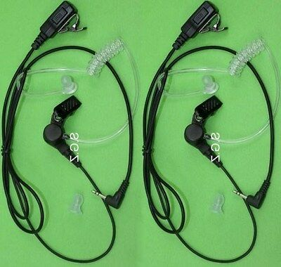 2 x EARPIECE MICROPHONE COVERT FOR UNIDEN UH710SX /UH720SX  RADIOS+NEW+WTY