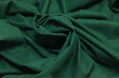 "ANTI TARNISH SILVER CLOTH FOREST GREEN JEWELRY COTTON FABRIC BY THE YARD 54"" W"