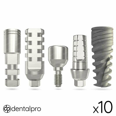 10 x Neo® Dental Implant + Straight Abutment + Healing Cap + Transfer + Analog
