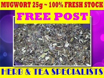 MUGWORT 25G TEA ☆ Artemisia vulgaris☆DRIED HERB☆RELAX☆REMEDY☆SAVE☆SUPER FRESH