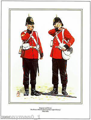 British signed Military Print Somersetshire Light Infantry