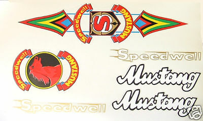 Speedwell Mustang set of decals new