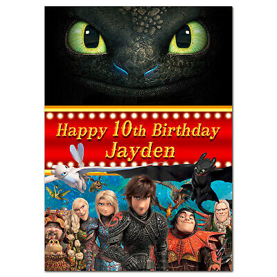 b219 Personalised greeting card; How to Train Your Dragon 3; Best Special Great