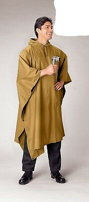 4938 Rothco GI Style Coyote Brown Rip Stop Waterproof Poncho