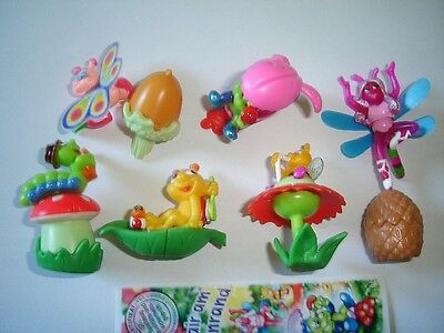 Kinder Surprise Set - Bugs In The Meadow 2001 - Figures Toys Collectibles