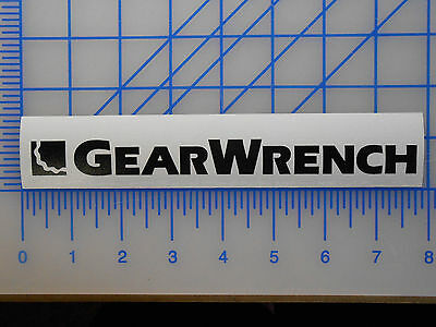 """Gearwrench Logo Decal Sticker 7.5"""" 11"""" Ratchet Wrench Mac Snap On Matco Cornwell"""