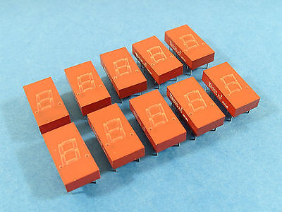 """10x TR335, 0.3"""" 7-Segment LED Display, RED, MAN72A compatible, Common anode"""