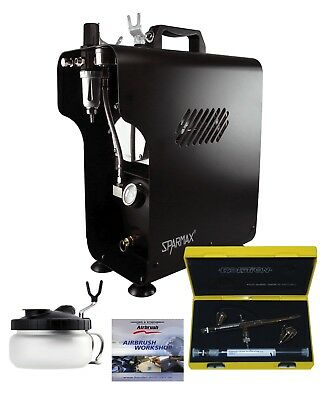 Professional Airbrushing Kit With Silverline 2 in 1 & Sparmax 620X Compressor