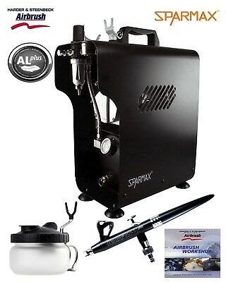 Professional Airbrushing Kit - Evolution ALplus 2 in 1 & Sparmax 620X Compressor