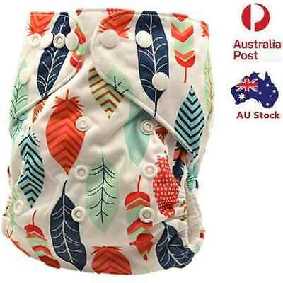 Reusable Modern Cloth Nappies Washable Baby Diaper Pocket Nappies + Insert (M18)