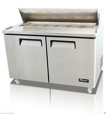 """New  2 Door 60"""" Sandwich Prep Table By Migali  C-Sp60-16 ,free Shipping !"""