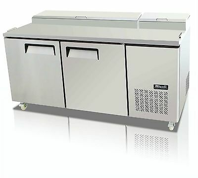 "NEW MIGALI C-PP67 REFRIGERATED PIZZA PREP 2 DOOR 20 Cu.ft 67""W ,FREE SHIPPING !"