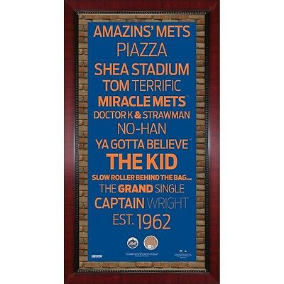 New York Mets Subway Sign Framed 16x32 Game Used Dirt