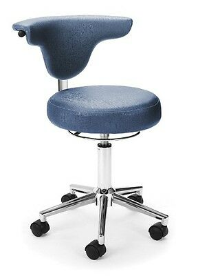 Anti-Bacterial Medical Office Task Chair in Slate Color Vinyl - Clinic Lab Stool