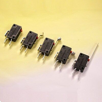 15A V3 Microswitch V-15-FL SPDT Single Pole Double Throw Roller Lever Button
