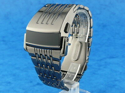 GUN METAL Chunky Rare Old Vintage Retro 70s Driver Style LED LCD DIGITAL Watch