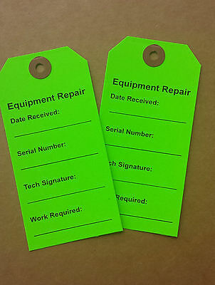 1000 Equipment Repair Tags Hospital Equipment Label Tag Rental Paper  Hang Tag