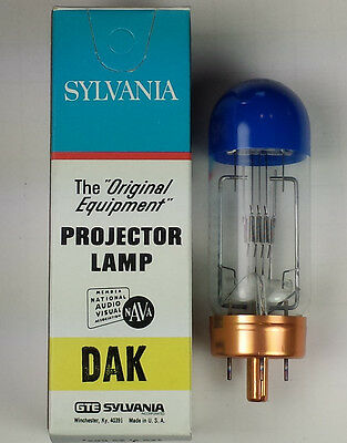 Sylvania DAK Blue Top Projection Projector Lamp Bulb 500W 120V New Old Stock