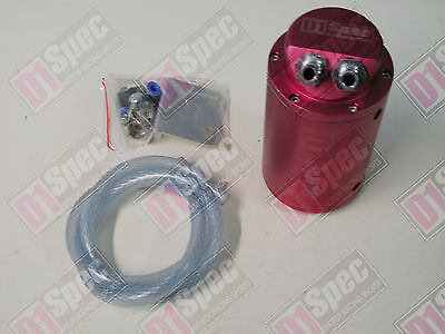 D1 SPEC OIL CATCH CAN TANK RED MATTE fit MITSUBISHI TOYOTA SUBARU HONDA NISSAN