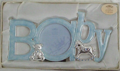 Silver Plated Baby Boy Photo Frame BABY