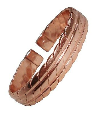 Mens Heavy Copper Magnetic Bracelet Bio Magnet Therapy Bangle Wristband New
