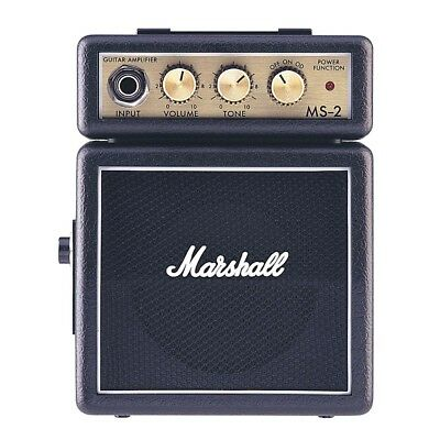 Mini Amplificatore Portatile MARSHALL MS-2 a Batteria x Chitarra iPhone iPad