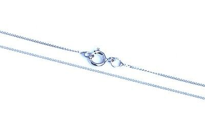"9ct Solid White Gold Fine Diamond Cut Curb Chain Necklace 16"", 18"" 20"""
